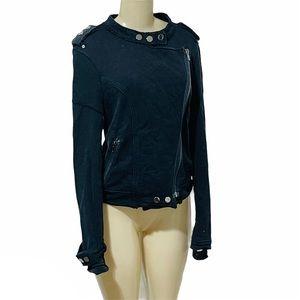 FATE by LFD distressed side zipper Moto jacket S